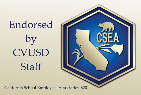 Cindy Endorsed by CVUSD Staff